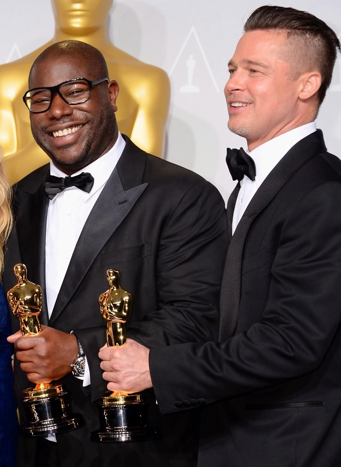 Steve McQueen's Montblanc Nicolas Rieussec Open Hometime timepiece - 86th Annual Academy Awards