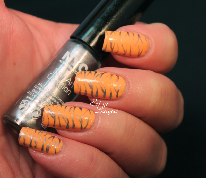 NYC Animal Print Nail Art