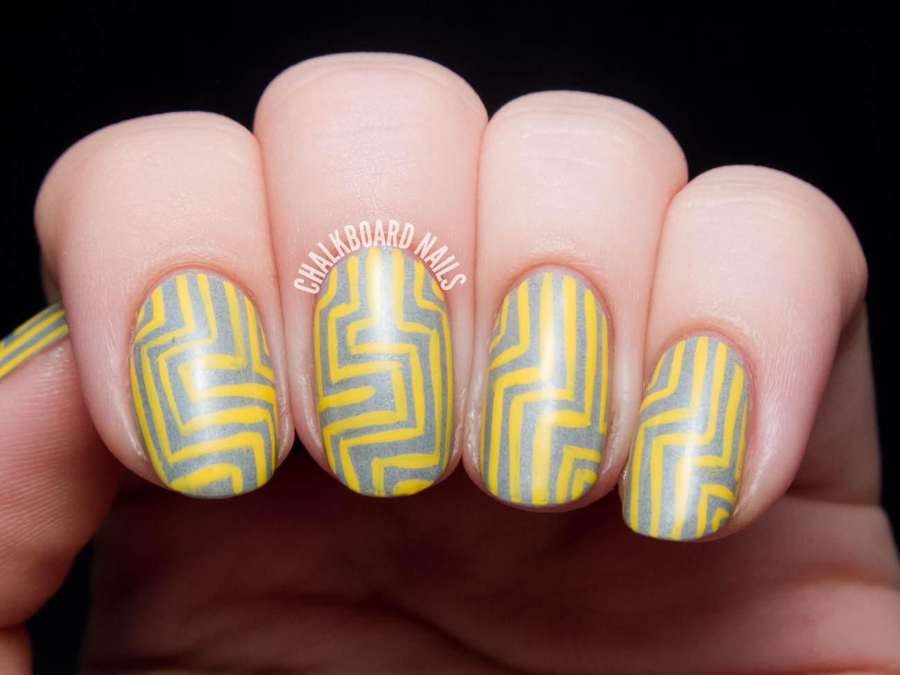 Yellow and grey angular pattern chalkboard nails nail art blog ive used this shade frequently as well the opacity is fantastic and i love the insta dri formula especially for nail art prinsesfo Gallery