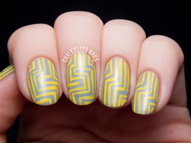 yellow and grey angular pattern