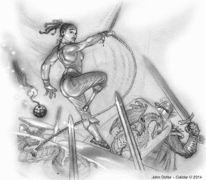 John Dollar art Calidar: In Stranger Skies Gumboyle Moffeecot Mama Goo