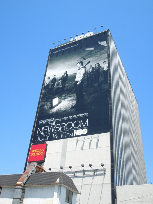 Newsroom 2 giant sunset strip billboard