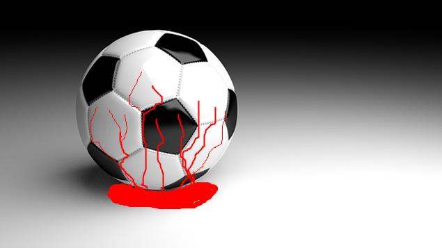 bloody soccer ball
