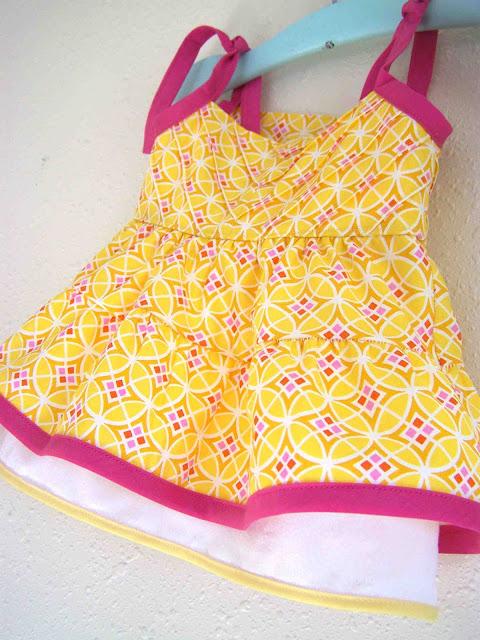 pintuck chevron dress pattern