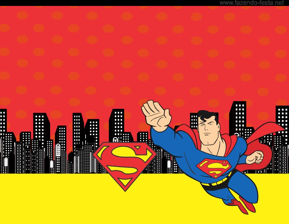 Para hacer tarjetas, invitaciones banderines o etiquetas para Candy Bar de Superman.