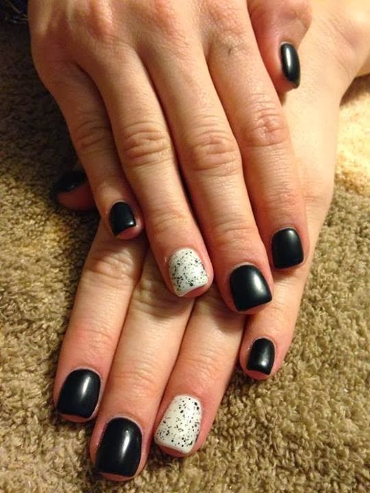 acrylic overlay abyss black and creme puff with silver glitzsequins LED-polish-manicure-OPI-Nail-Polish-Lacquer-Pedicure-care-natural-healthcare-Gel-Nail-Polish-beauty-Acrylic-Nails-Nail-Art-USA-UK