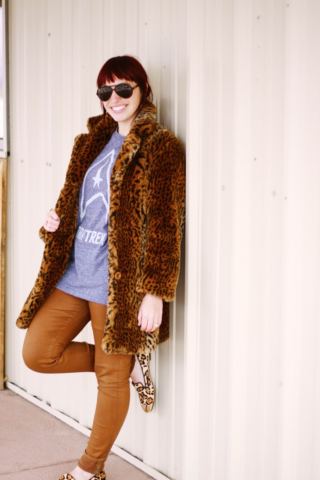 fashion blog, fashion blogger, style blog, style blogger, mens fashion, mens fashion blog, mens style, mens style blog, womens style blog, anthropologie ootd blog, anthropologie ootd, anthropologie, ootd, mens ootd, womens ootd, steve madden, cheetah, cheeatah loafers, oxford, nordstrom, faux fur coat, fur coat, waxed jeans, citizens of humanity waxed jeans, rayban, aviator ray ban, star trek, treky,
