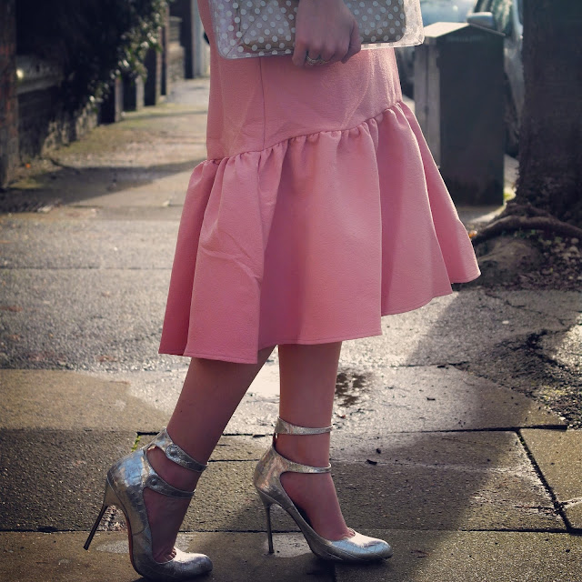 Pink Peplum Skirt by What Laura did Next