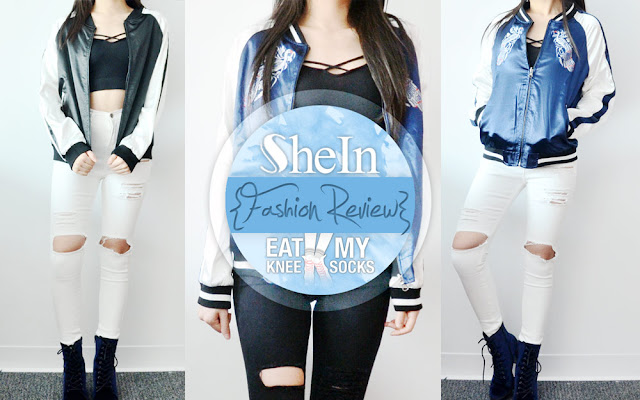 I know my last SheIn review was just a little over a week ago, but since I just received my latest item from them (and I'm procrastinating from doing actual work right now), here's another fashion review! The item I'll be reviewing is an Asian-inspired blue-and-white embroidered satin bomber jacket, a reversible one-of-a-kind piece that boasts both style and substance. Details after the jump!