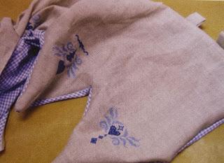 Visillos Bordados con Punto Cruz, Accesorios de Decoracion para Casa