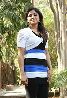 Tamil Actress Santhini Pictures in Black Leggings at 555 Movie Press Meet  0035