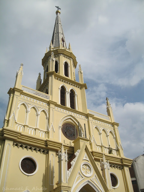 Tall spire of Kalawar Church