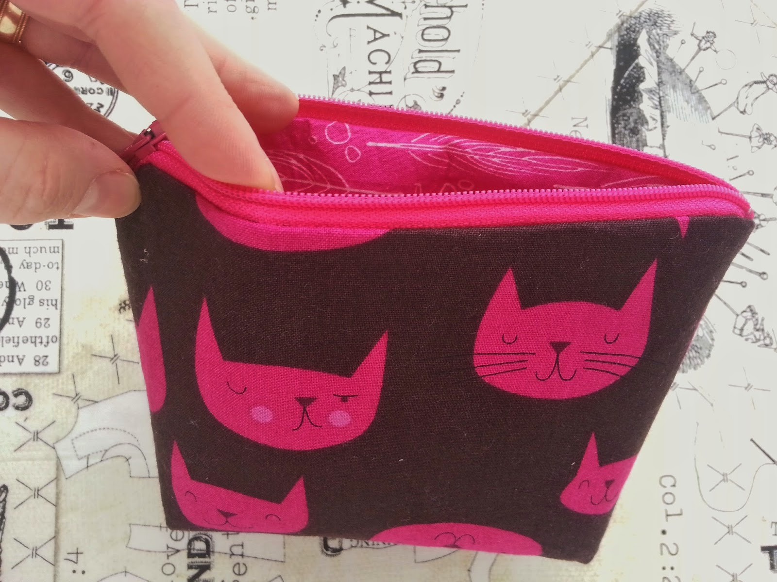 Catnap for Crayons Little Bitty Zipper Pouch Inside