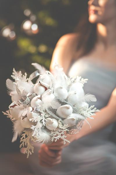 Zimowy bukiet ślubny