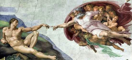 Pintura de Dios y el Hombre