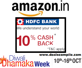 Amazon-HDFC Card Offer - Flat 10% Cashback