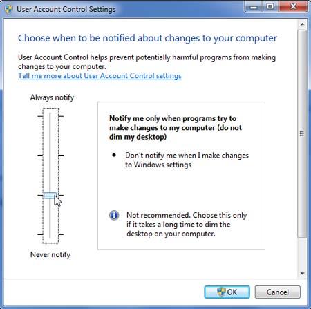 UAC Windows 7