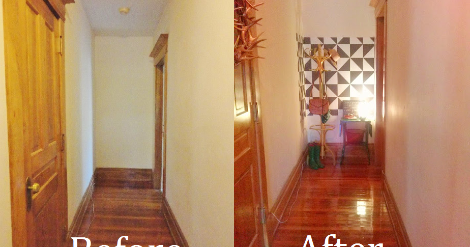 the lovely side my hallway before after my apartment