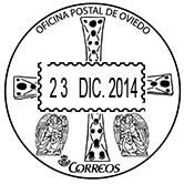 Ejemplo de matasellos de la OP de Oviedo