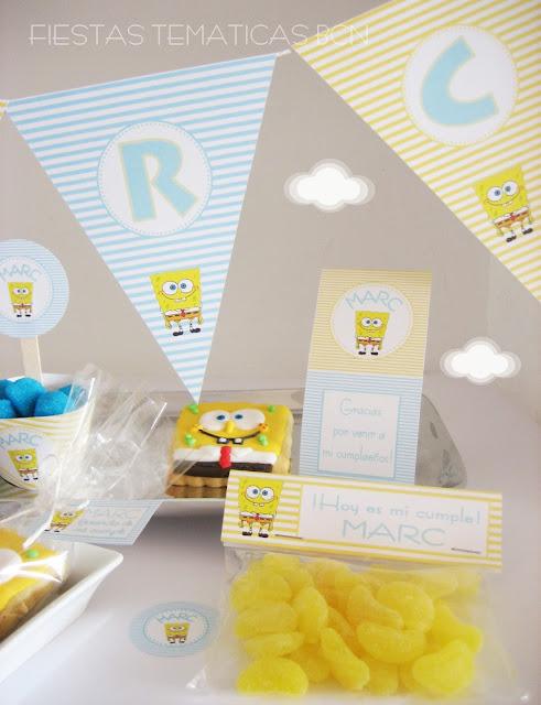 Kit de fiesta imprimible bob esponja
