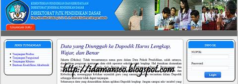 Link Baru Cek SK Tunjangan Guru P2TK Dikdas