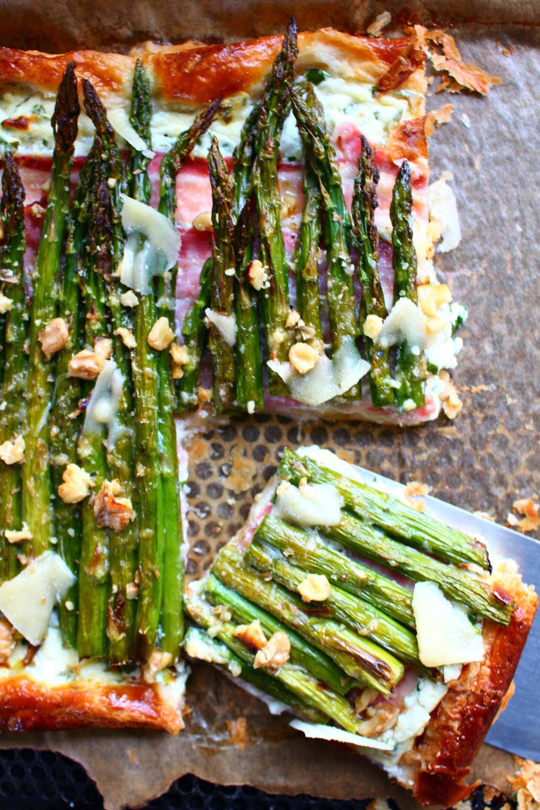 Asparagus and Pancetta Tart