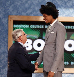 afro, Lucas Nogueira, David Stern, NBA Draft, basketball, awesome