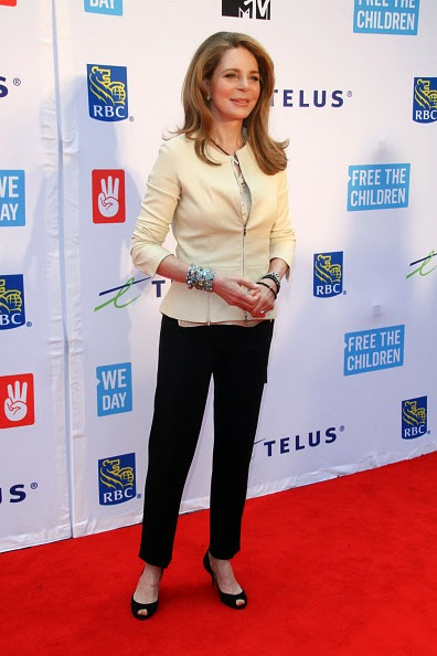 Queen Noor of Jordan attends We Day Toronto at the Air Canada Centre on 02.10.2014 in Toronto, Canada.