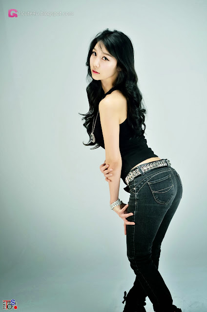 5 Go Jung Ah in black -Very cute asian girl - girlcute4u.blogspot.com