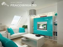 Decoração de Sala em Azul Turquesa