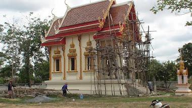 อุโบสถหลังใหม่ที่กำลังก่อสร้าง