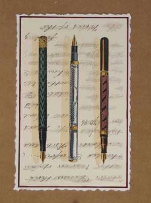 imagem masculina para decoupagem - canetas