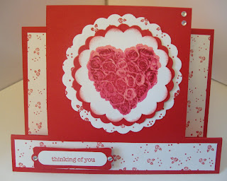 Kathie's Cards: Center Step Four-Step Roses