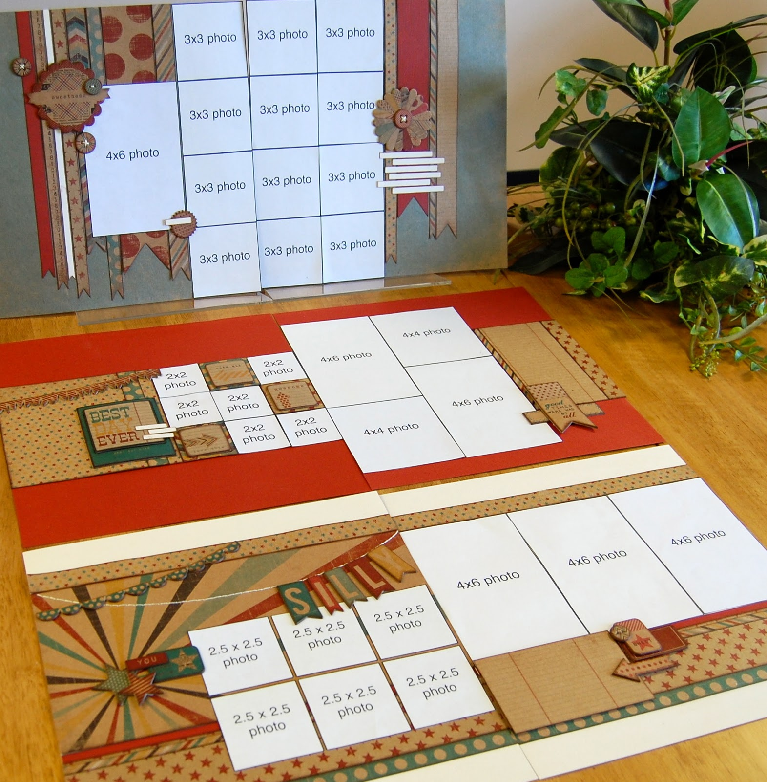Scrapbook ideas calendar pages -  Fun Day 25 Fee Make Three Double Page Layouts Includes 12x12 Chipboard Set Includes Three Sketches