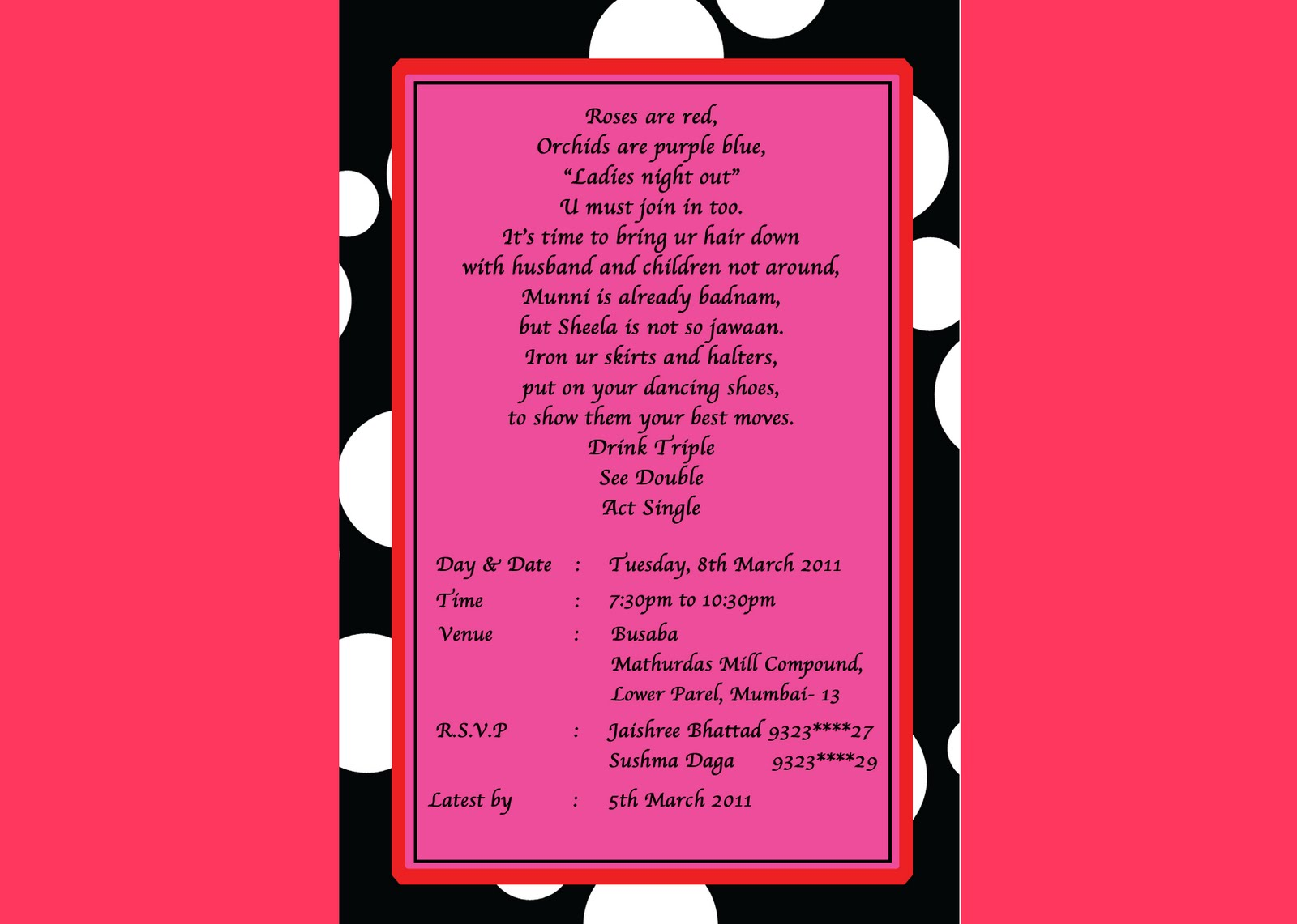 ladies night invitations-#2
