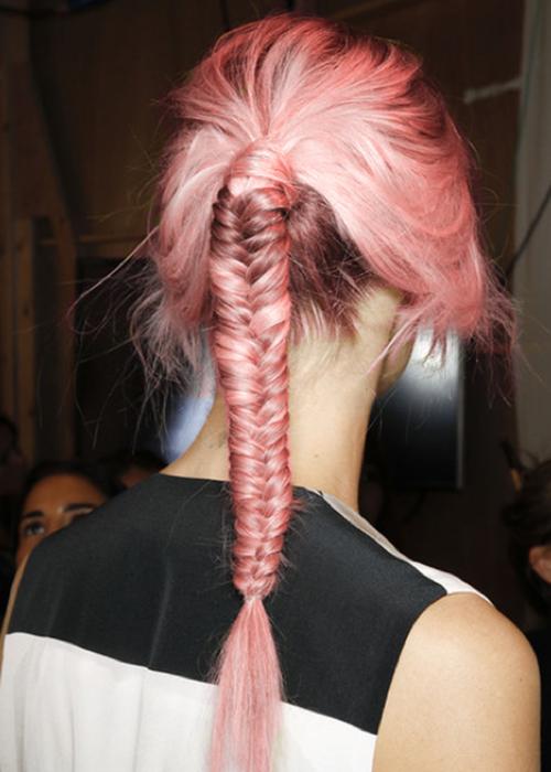 trenzas en pelo rosado 2013