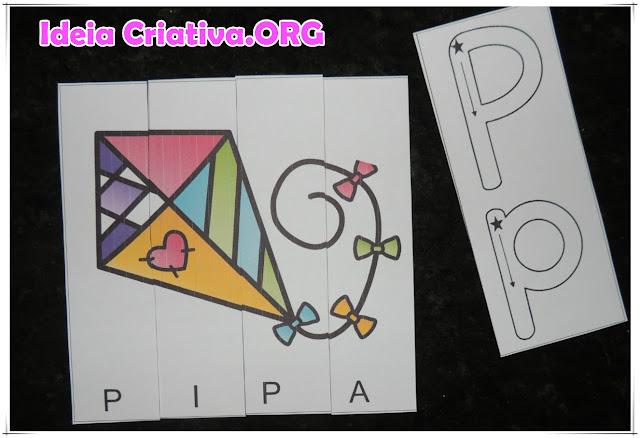 Quebra-cabeças palavras 4 letras e letra inicial para imprimir grátis