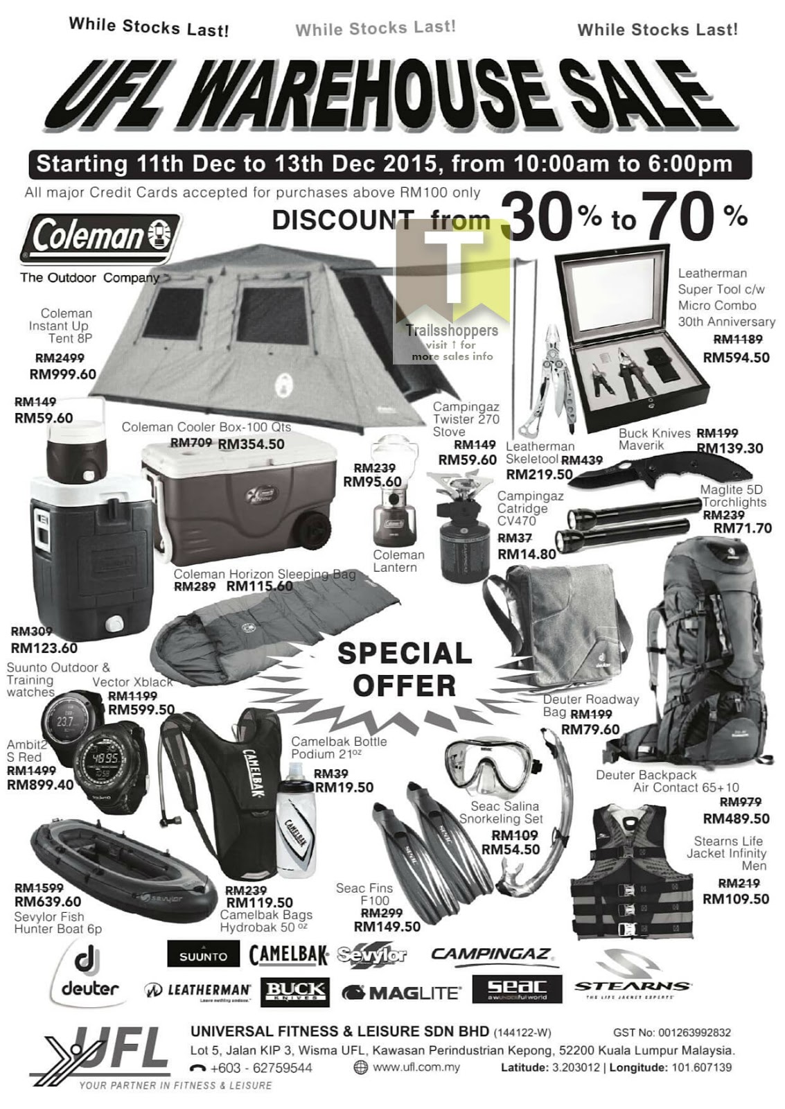 UFL Warehouse Sale offer kepong kl