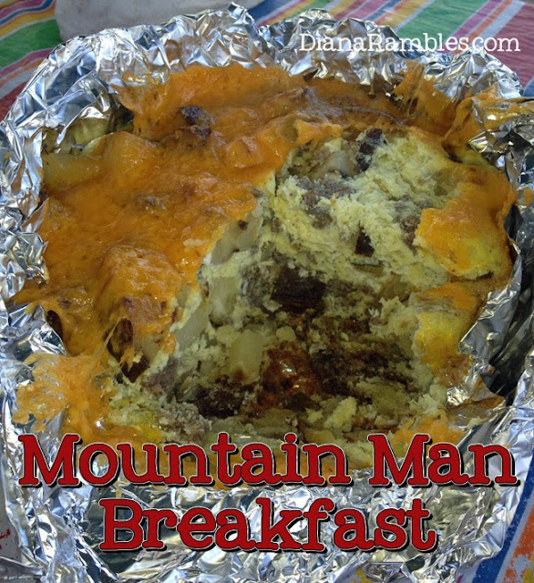 mountain man dutch oven camping breakfast