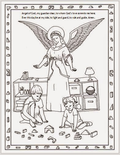 Drawn2bcreative Free Guardian Angel Coloring Page Guardian Coloring Page