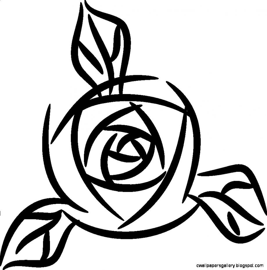 Rose Clip Art Black And White  Clipart Panda   Free Clipart Images