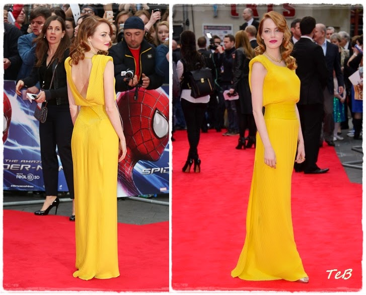emma stone red carpet spiderman