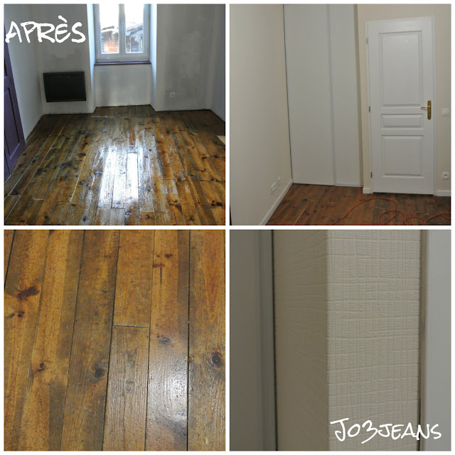 parquet, chambre, travaux, tapisserie