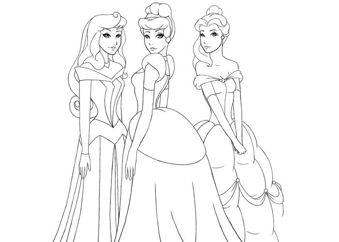раскраски принцессы диснея i