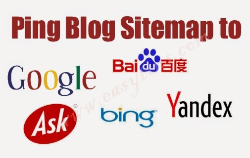 how to ping a blogger blog s sitemap to google bing baidu yandex
