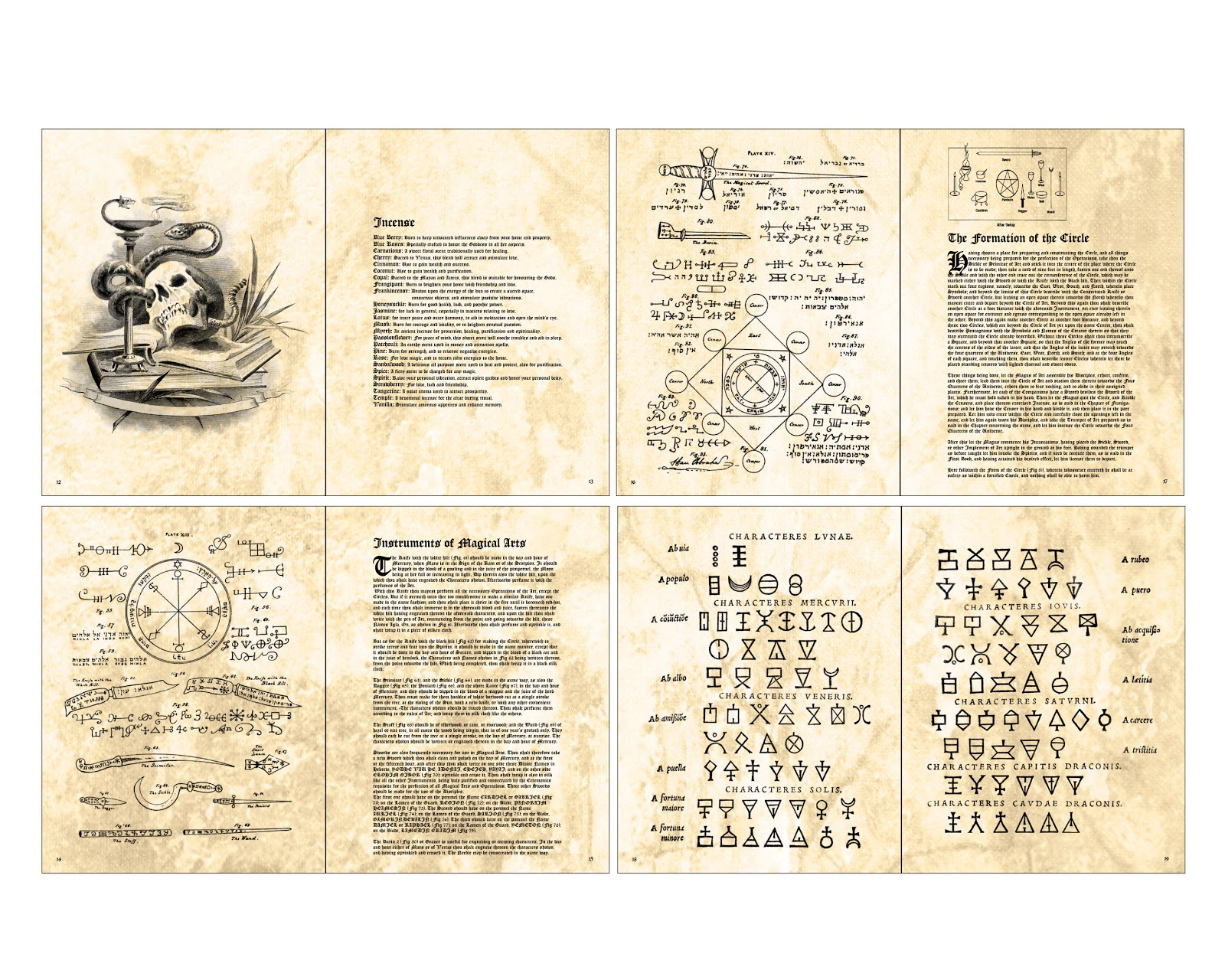 This is a graphic of Handy Printable Spell Book Pages