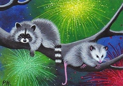 http://www.ebay.com/itm/ACEO-PRINT-RACCOON-OPOSSUM-FOURTH-OF-JULY-/330966250320?pt=Art_Prints&hash=item4d0f203350