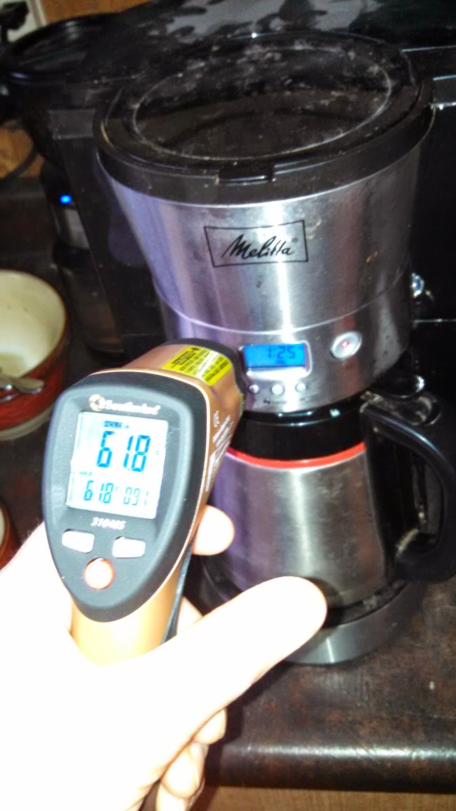 Measuring coffee temperature