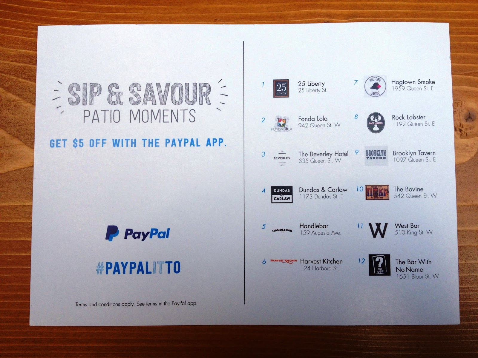 Patio Night Out #PayPalitTO PayPal Canada