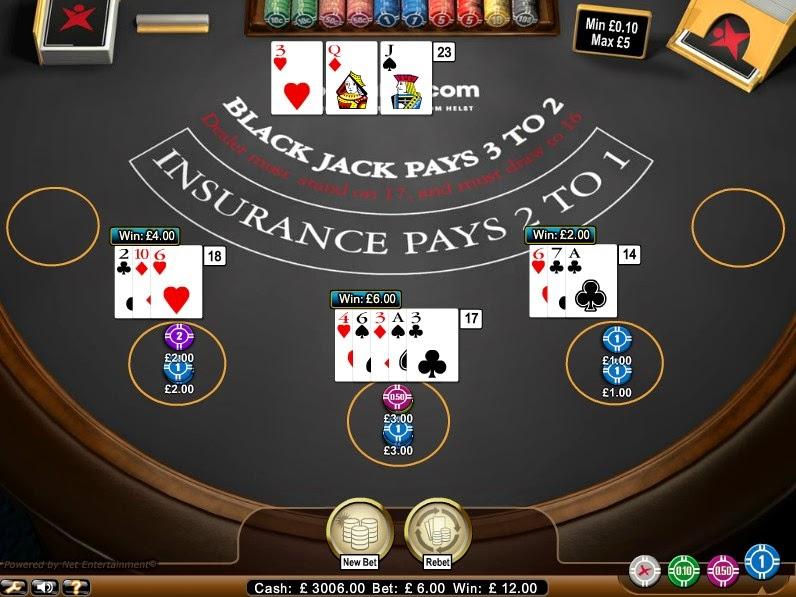 Betsafe Blackjack Screen